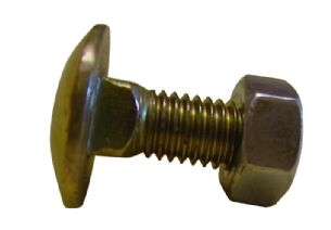 M10 X 30mm Cup Square Bolt & Nut x1